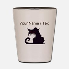 Custom Angry Black Cat Shot Glass