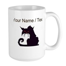 Custom Angry Black Cat Mugs