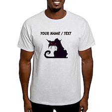 Custom Angry Black Cat T-Shirt