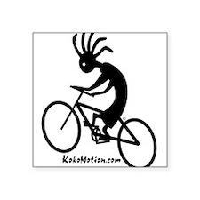 mt biking 2000X2000 black on white Sticker