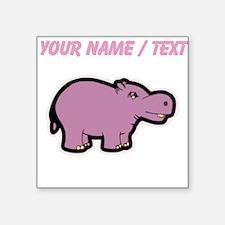 Custom Purple Hippo Sticker