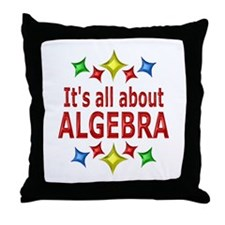 Shiny About Algebra Throw Pillow