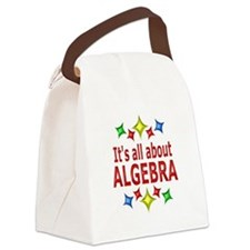 Shiny About Algebra Canvas Lunch Bag