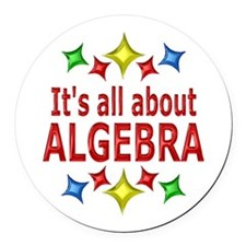 Shiny About Algebra Round Car Magnet