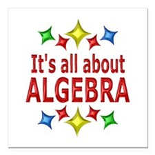 "Shiny About Algebra Square Car Magnet 3"" x 3"""