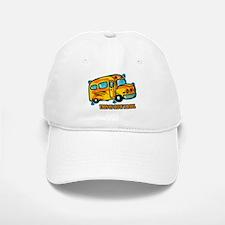 How I Roll School Bus Baseball Baseball Cap