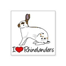 I Heart Rhinelander Rabbits Sticker