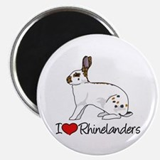 I Heart Rhinelander Rabbits Magnets