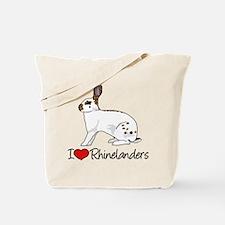I Heart Rhinelander Rabbits Tote Bag