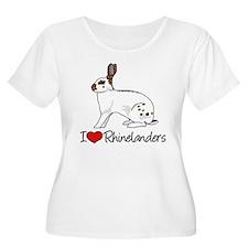 I Heart Rhinelander Rabbits Plus Size T-Shirt
