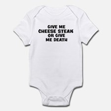 Give me Cheese Steak Infant Bodysuit