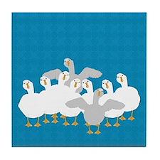 Goose Who Tile Coaster
