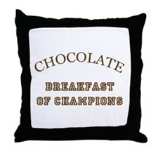 Breakfast Champions Chocolate Throw Pillow