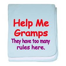 Help Me Gramps baby blanket