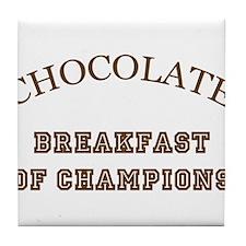 Breakfast Champions Chocolate Tile Coaster