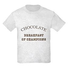 Breakfast Champions Chocolate T-Shirt