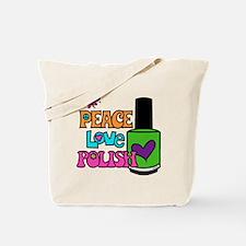 Peace Love Polish Tote Bag