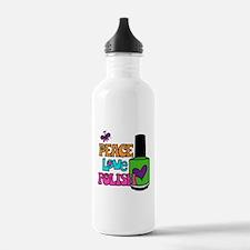 Peace Love Polish Water Bottle