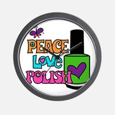 Peace Love Polish Wall Clock
