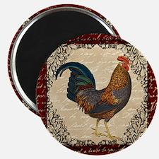 Red Vintage Rooster Magnets