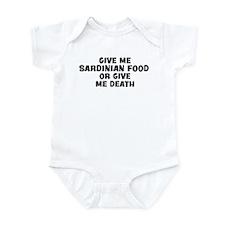 Give me Sardinian Food Infant Bodysuit