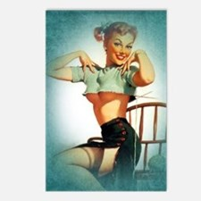 Sexy Pinup Art Postcards (Package of 8)