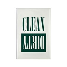 Dishwasher Clean and Dirty Hunter Green Magnets
