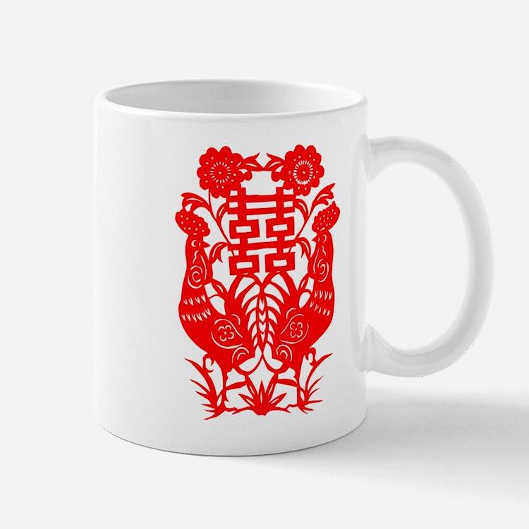 Cute Chinese paper cut snake Mug