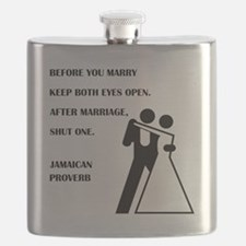 JAMAICAN PROVERB Flask