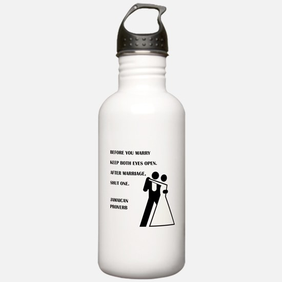 JAMAICAN PROVERB Water Bottle
