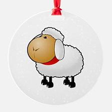 Fuzzy Wuzzy Sheep Ornament