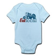 Eat Local Patriotic Infant Bodysuit
