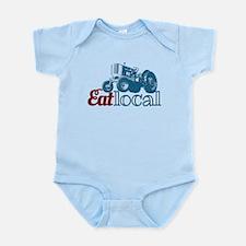 Eat Local Patriotic Infant Bodysuit