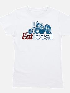 Eat Local Patriotic Girl's Tee