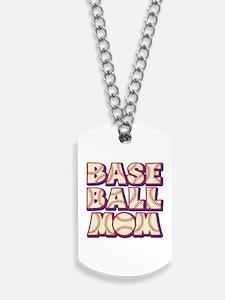 BASEBALL MOM Dog Tags