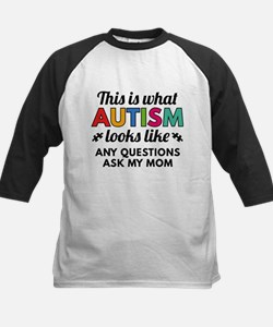 Autism Looks Like Baseball Jersey