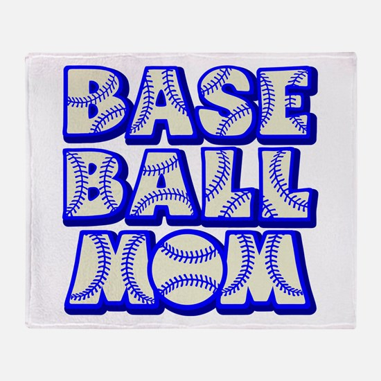 BASEBALL MOM Throw Blanket