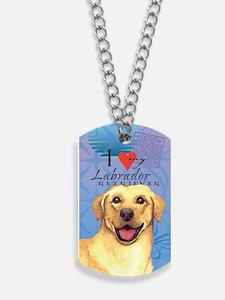 Yellow Lab Dog Tags