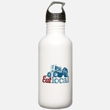 Eat Local Patriotic Water Bottle