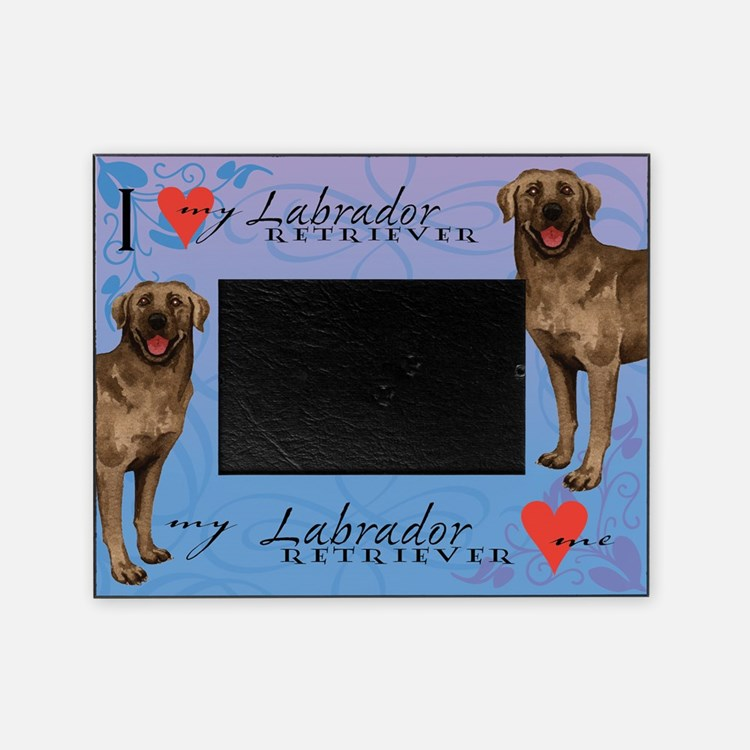 Chocolate Lab Picture Frame