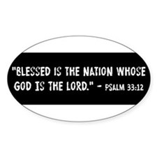 Blessed Is The Nation Psalm 33:12 Decal