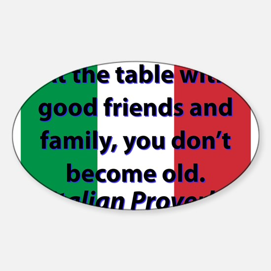At The Table With Good Friends Decal