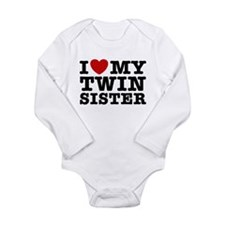 Funny Twins Long Sleeve Infant Bodysuit