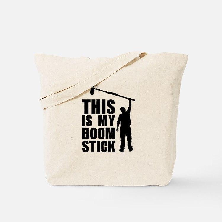 Boom Stick (black logo) Tote Bag