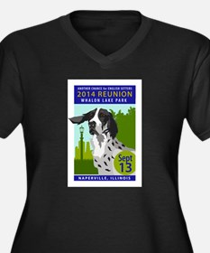 Cute Ohio english setter rescue Women's Plus Size V-Neck Dark T-Shirt