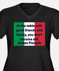 At The Table With Good Friends Plus Size T-Shirt