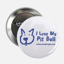 """I Love My Pit Bull 2.25"""" Button"""