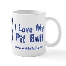 I Love My Pit Bull Mugs