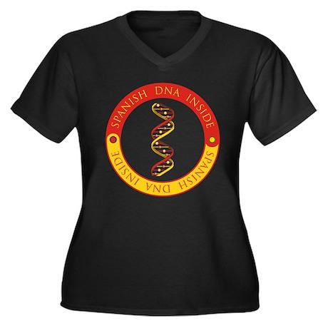 Spanish DNA Women's Plus Size V-Neck Dark T-Shirt