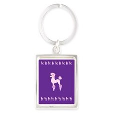 Perfectly Pink Poodle Keychains